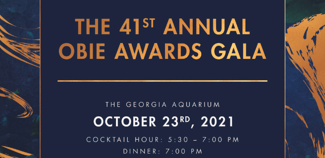 Graphic to advertise the OBIE Awards