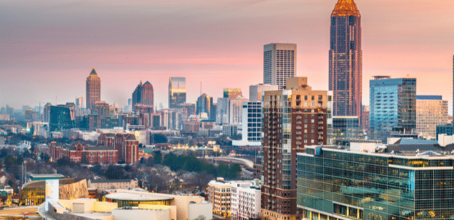 photo of the city of atlanta which recently ranked as a cost-effective city