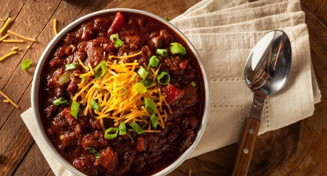 bowl of chili to depict Atlanta Chili Cook Off