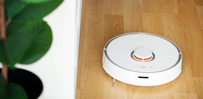 smart robot vacuum running on floor