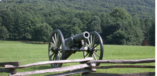 Kennesaw Ga battlefield with cannon