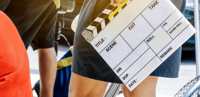 Film clapboard to depict Georgia Goes Hollywood
