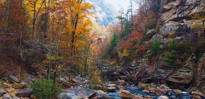 creek running through helen georgia