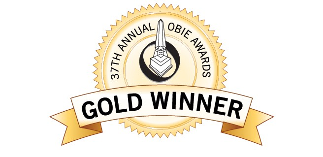 Gold OBIE Award Winner Logo