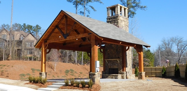 Amenity Area Now Complete at New Marietta Active-Adult Community