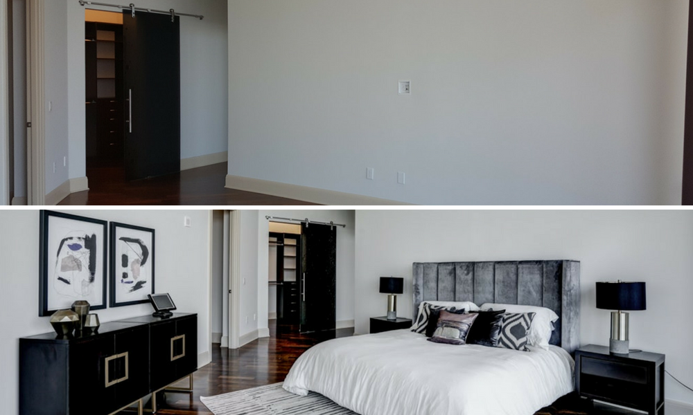 before and after of Atlanta home staging project