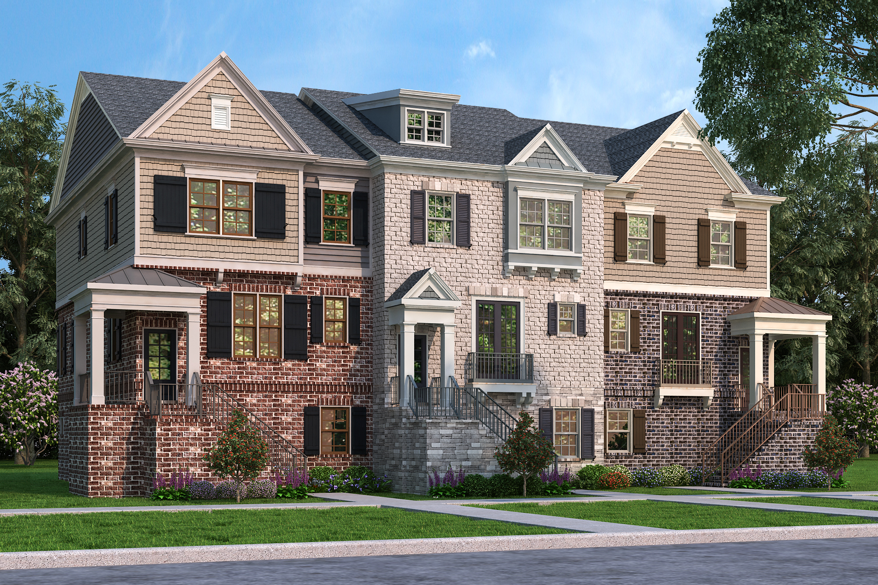 New Homes In Alpharetta Now Selling At Canton Street Commons