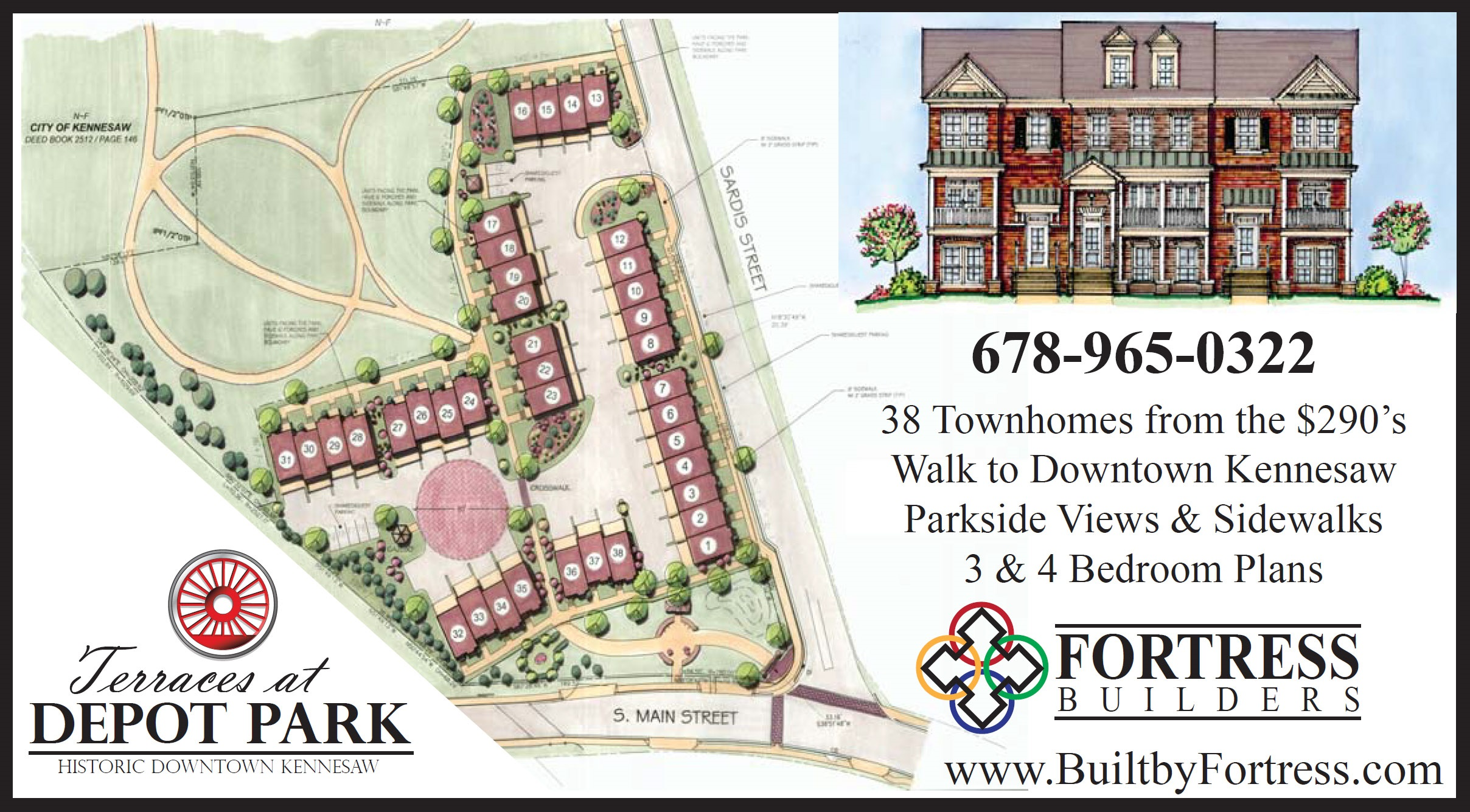 New Kennesaw Townhomes Selling Fast at Terraces at Depot Park
