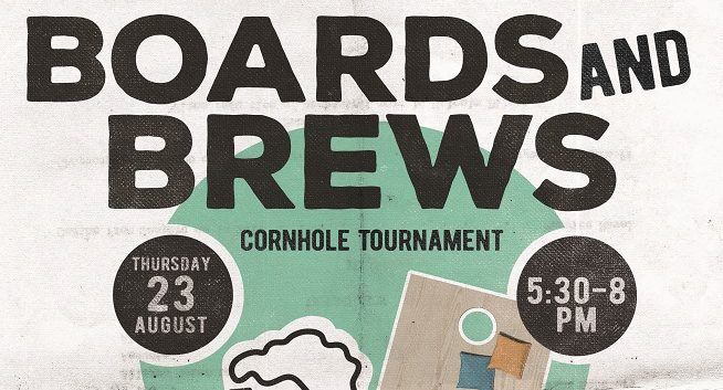 Boards and Brews cornhole tournament