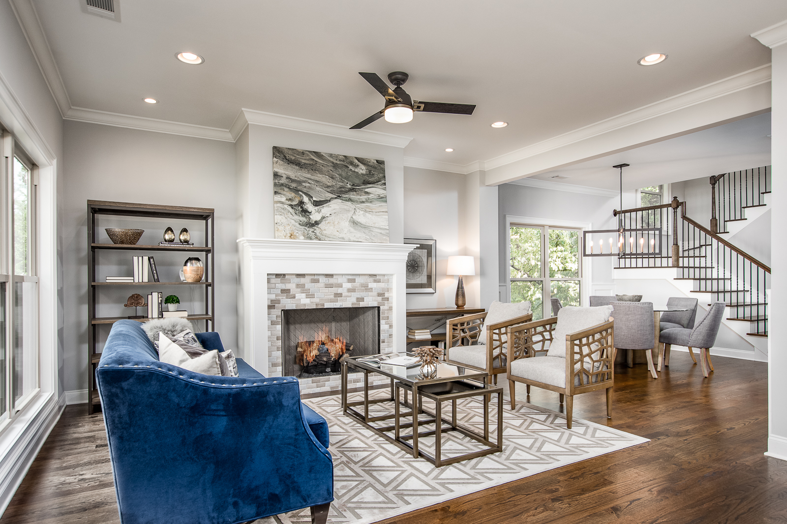 living room designed by Atlanta home staging company
