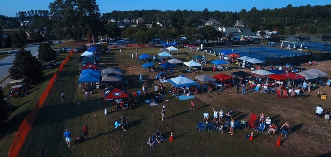 Birds Eye View of the Inaugural SheilaFest Music Festival at Traditions of Braselton in 2017