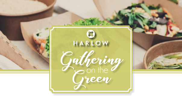 Gathering on the Green event flyer at Harlow Hall