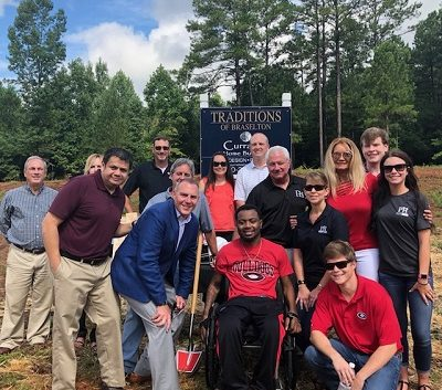 Devon Gales and Paran Homes Team - Traditions of Braselton Groundbreaking 2018