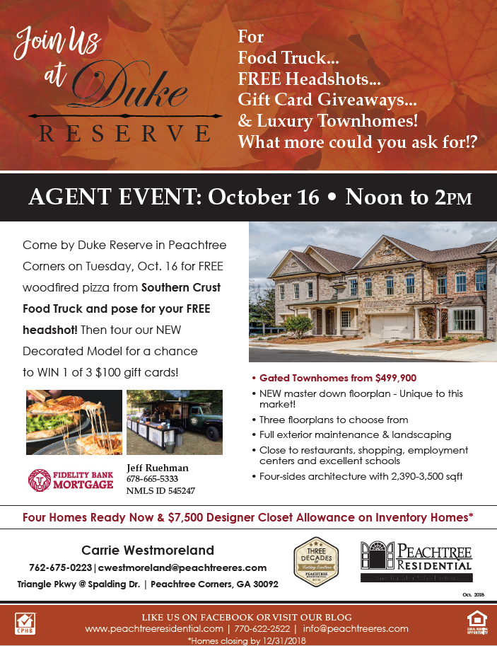 Agent Event at Duke Reserve in Peachtree Corners