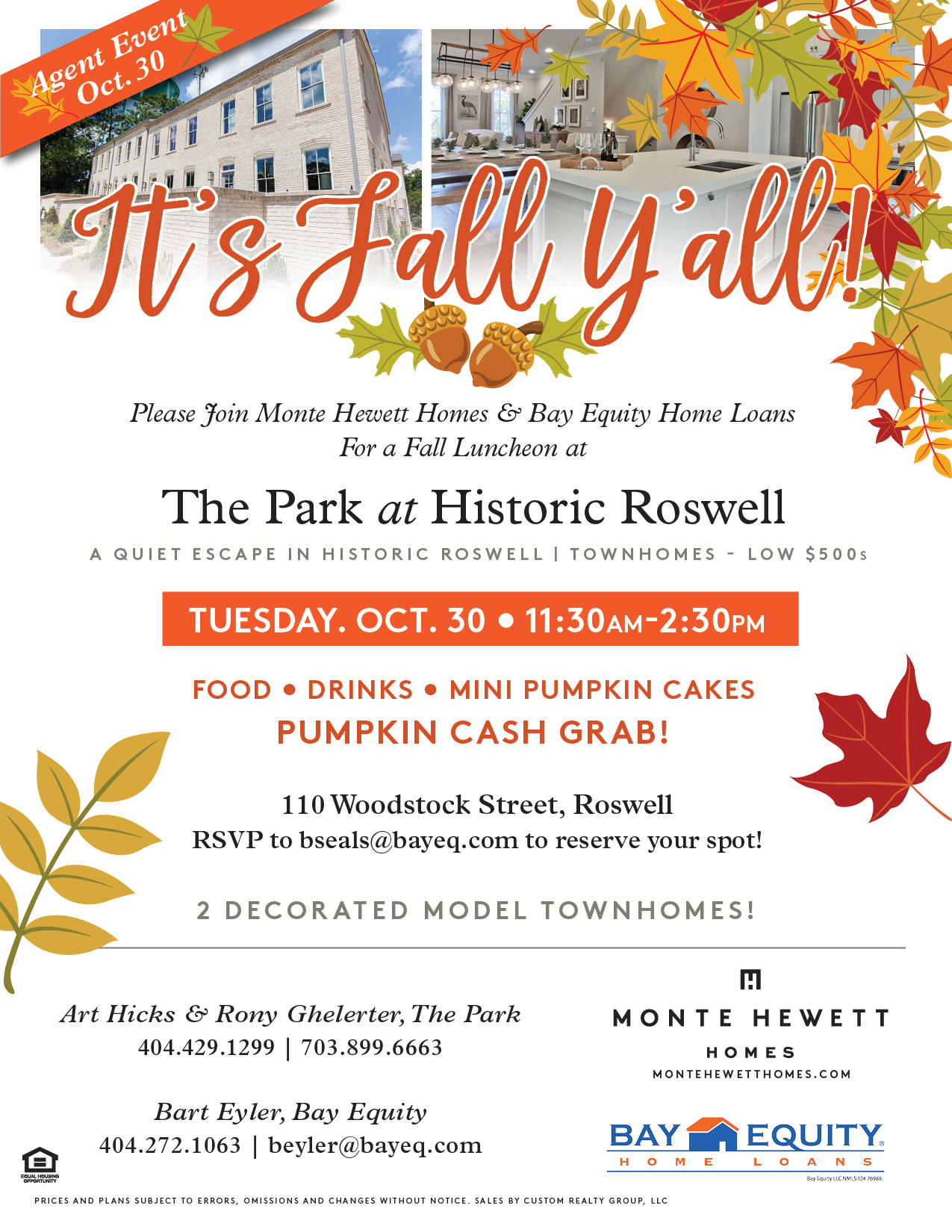 Monte Hewett Homes Hosting New Roswell Townhome Community Event