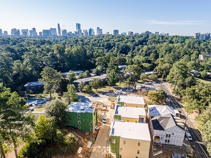 Construction Underway on New Buckhead Homes at Amble Green