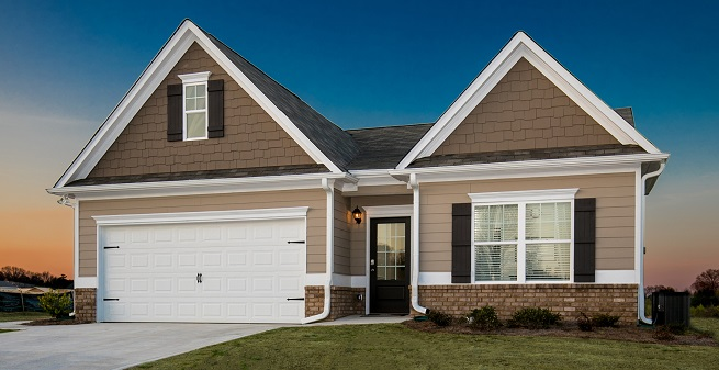 Campbell plan at Woody Farms by Smith Douglas Homes