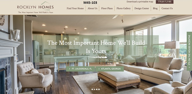 Rocklyn Homes Wins Gold OBIE for Builder Best Website