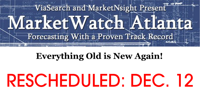 MarketWatch Atlanta Rescheduled