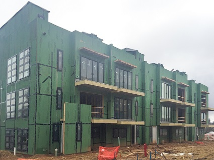 Construction Continues on New Atlanta Townhomes at Plateau West