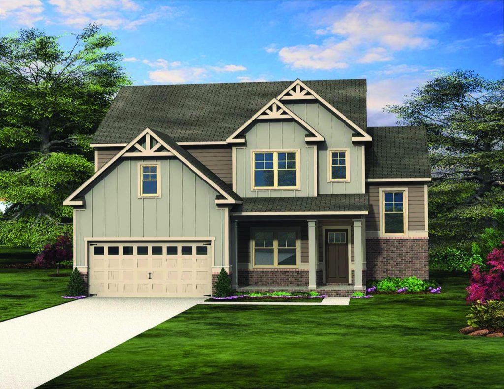 The Oakmont Floor Plan by Paran Homes is One of Four Available at Kingsland in College Park - Jan2019
