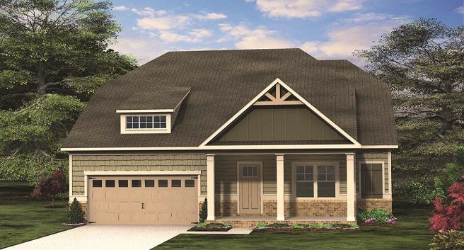 The Southampton Floor Plan by Paran Homes is One of Four Available at Kingsland in College Park - Jan2019