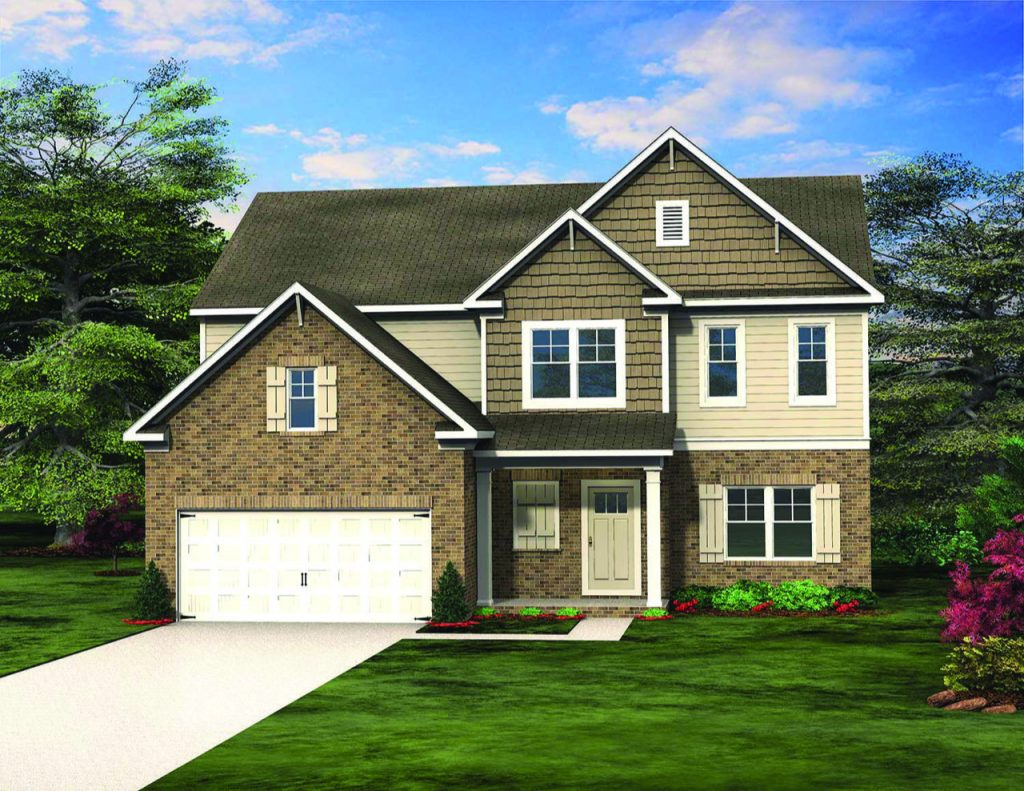 The Southport Floor Plan by Paran Homes is One of Four Available at Kingsland in College Park - Jan2019