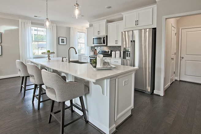 kitchen in a new townhome in east cobb from traton homes