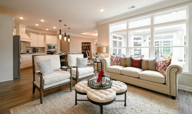 open concept active adult home