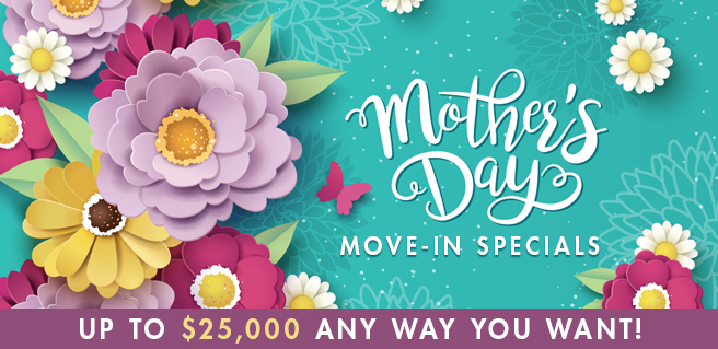 SR Homes Offering Mother's Day Move-In Incentives Up to $25K
