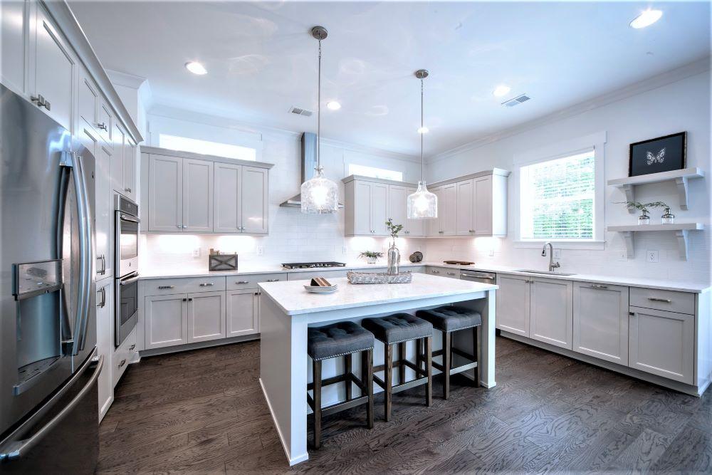 Logan Park model kitchen