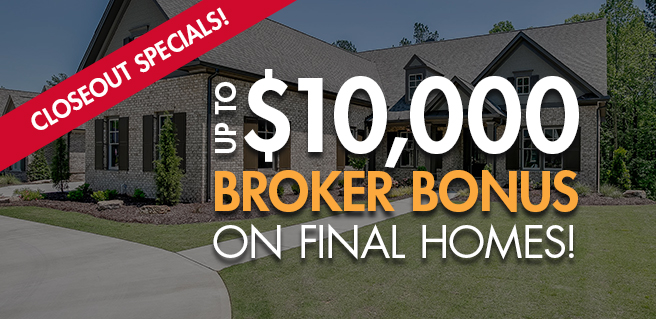 SR Homes Announces $10K Broker Bonus at New Cumming Communities*