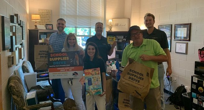 David Weekley Homes school supplies drive