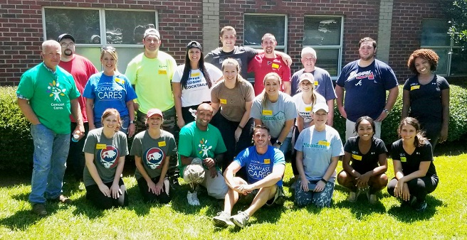 HomeAid Care Day at Solomon's Temple