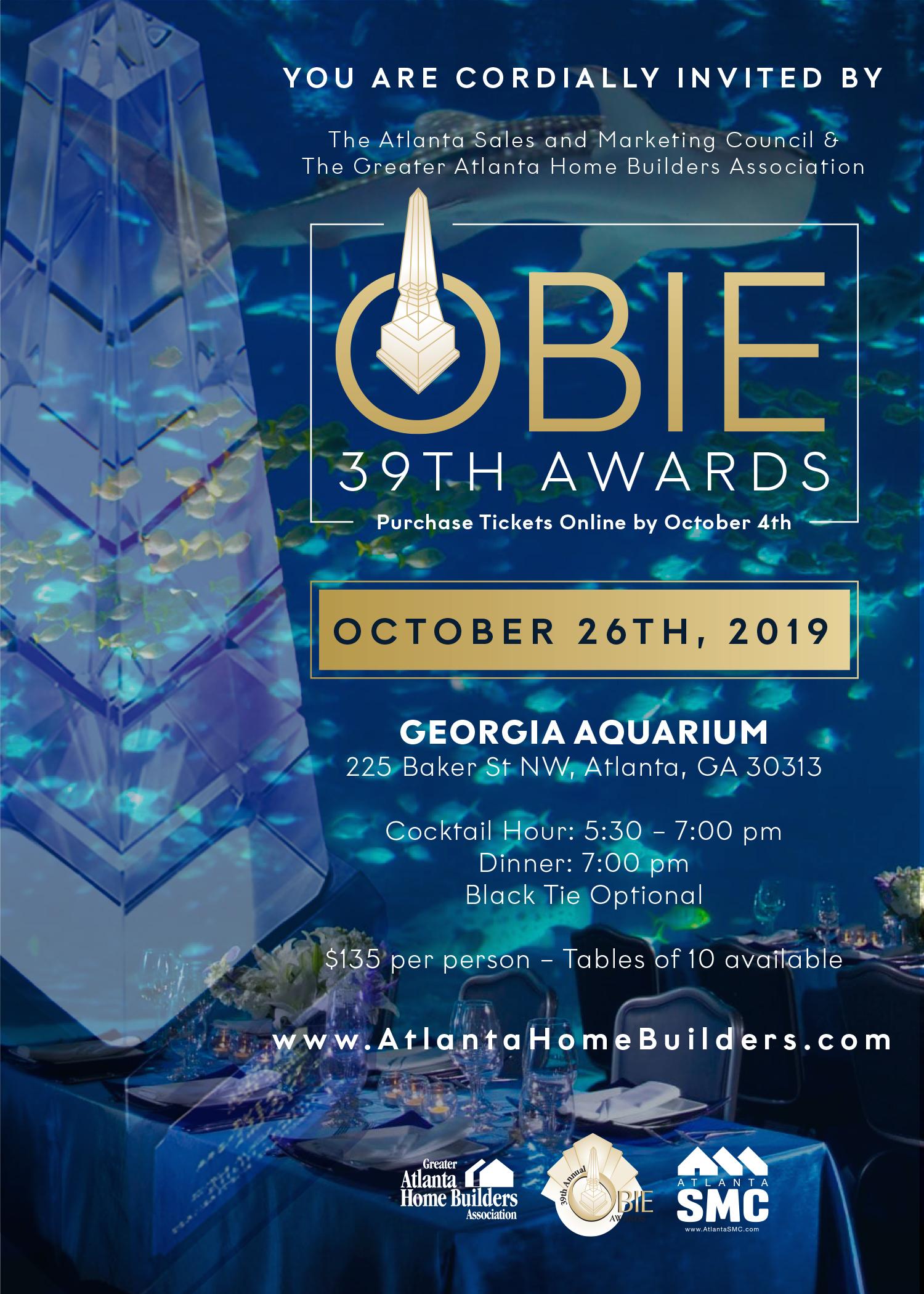 Tickets Now Selling for 39th Annual OBIE Awards at Georgia Aquarium