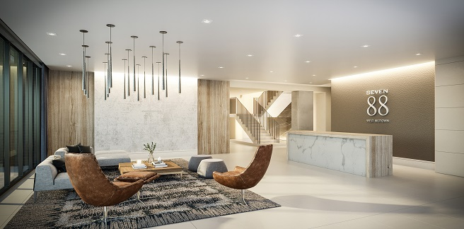 Seven88 West Midtown Lobby