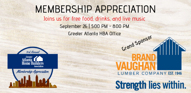 Greater Atlanta HBA to Host 3rd Annual Membership Appreciation Event