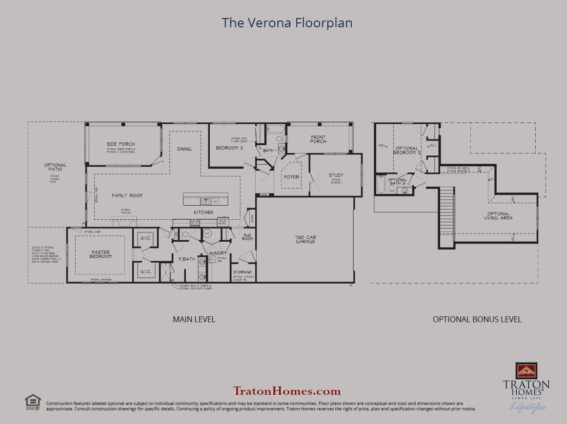 Verona Floor Plan Sheet