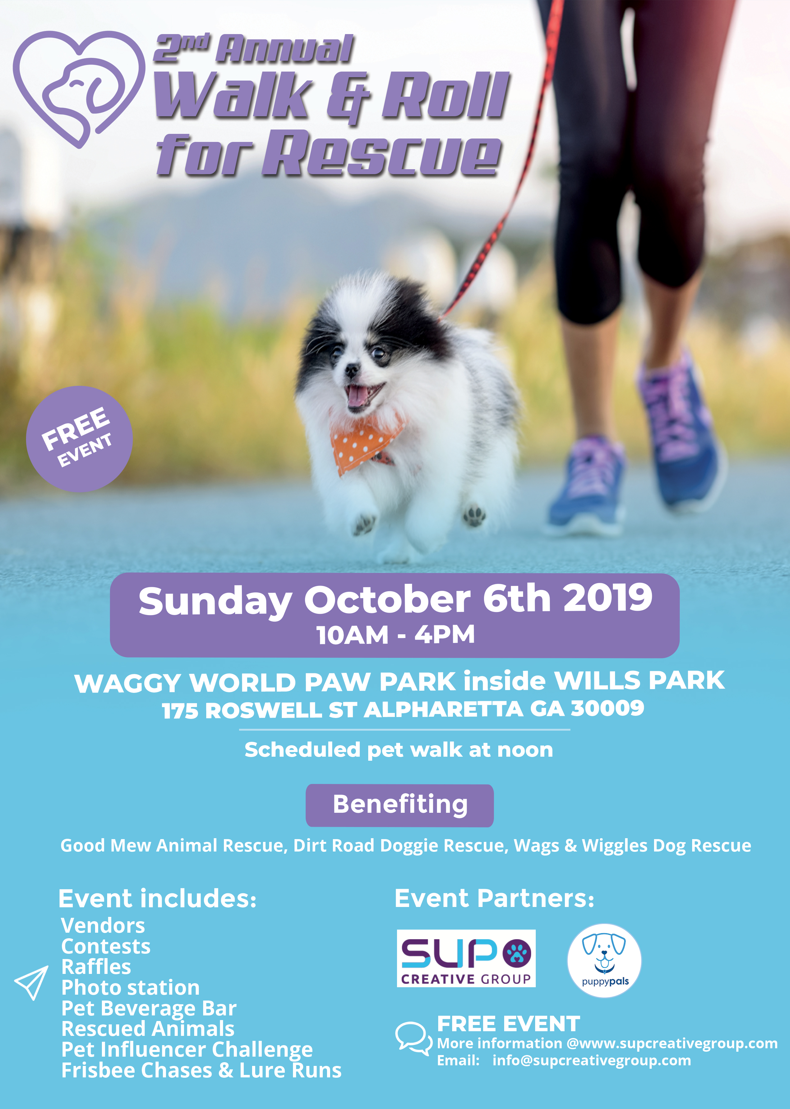 Join SUP Creative Group for 2nd Annual Walk & Roll for Rescue 2019