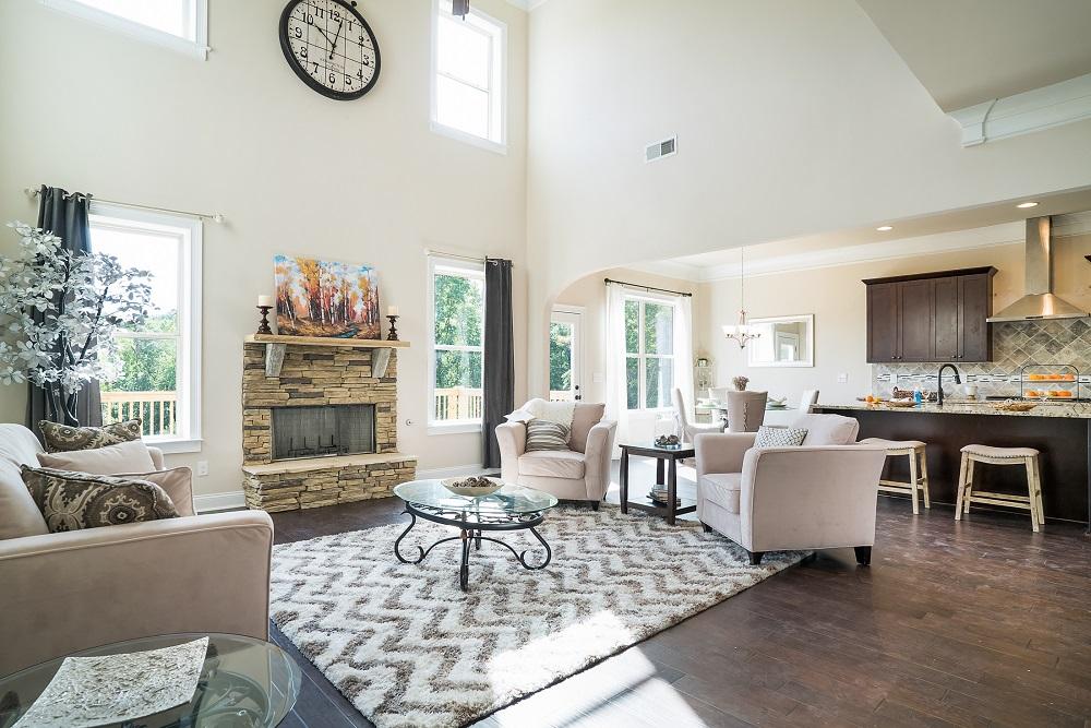 Birchwood model home living area