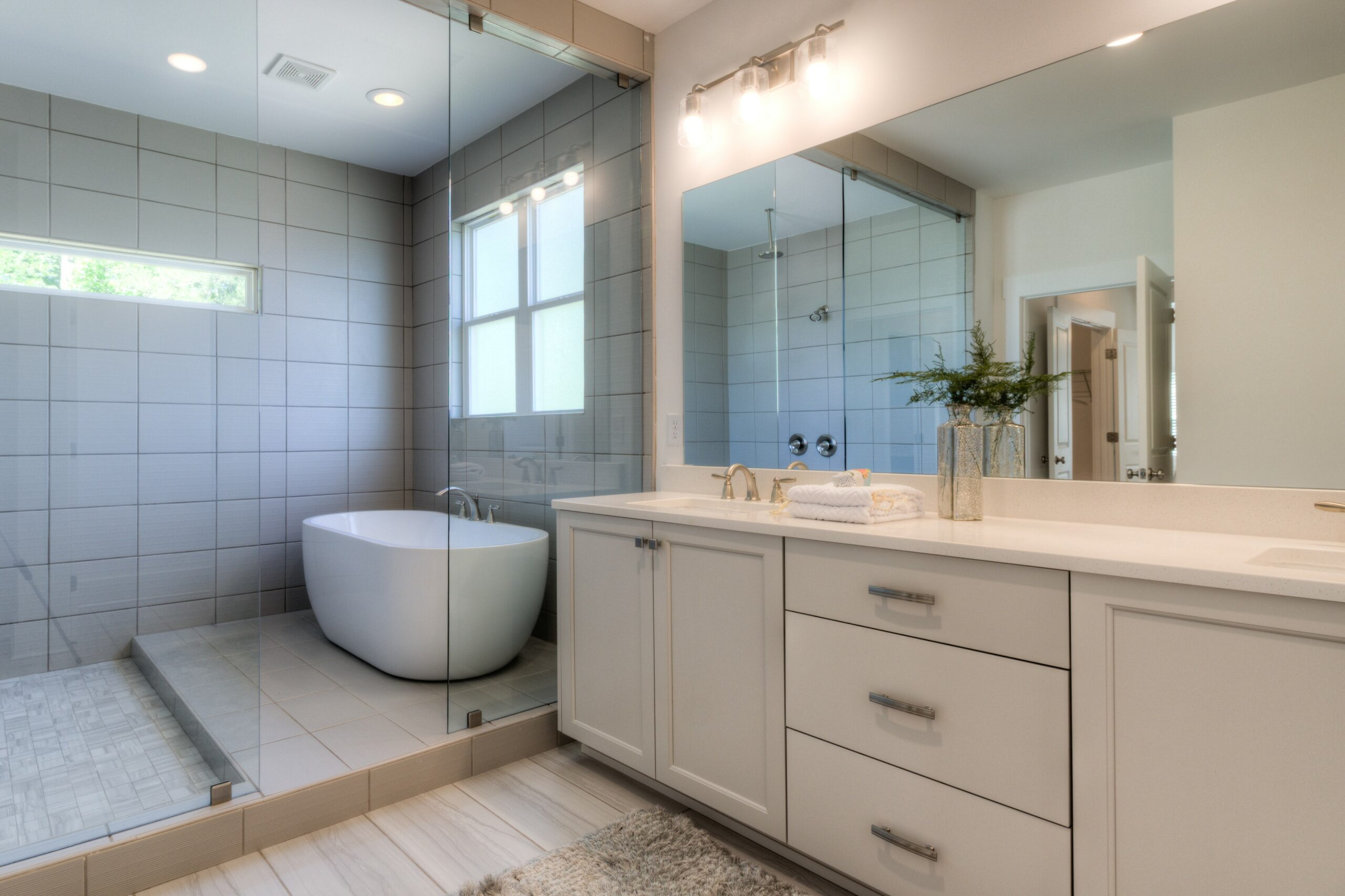 Cooper plan master bath with wet room