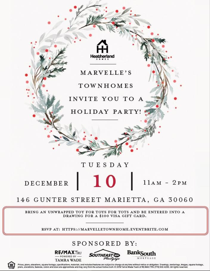 opening of Marietta townhomes at Marvelle