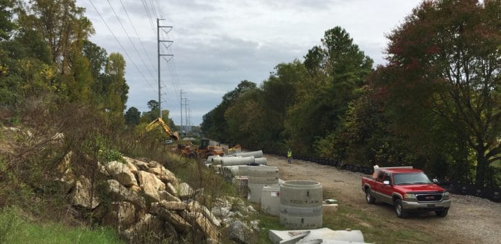 Construction on Atlanta BeltLine
