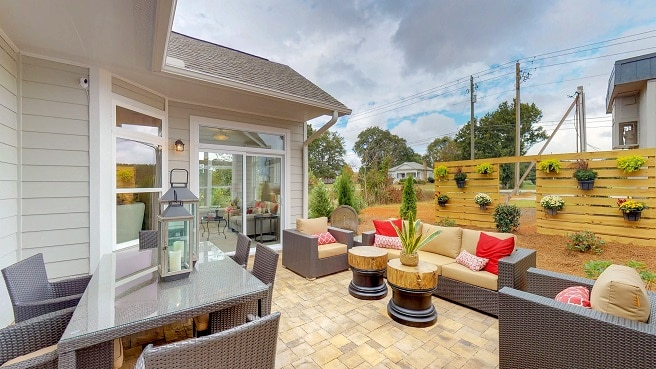 Outdoor Living Courtyard at West Cobb active adult home