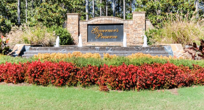 Governors Preserve Entryway by Fischer Homes