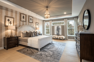 Fischer Homes Master Bedroom at Governors Preserve