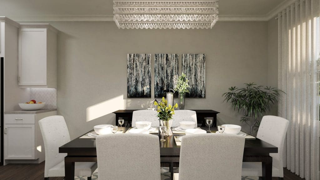 townhome communities grammercy park dining room