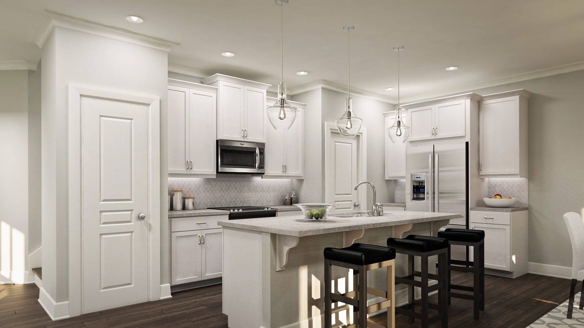 townhome communities edgemore at milford kitchen