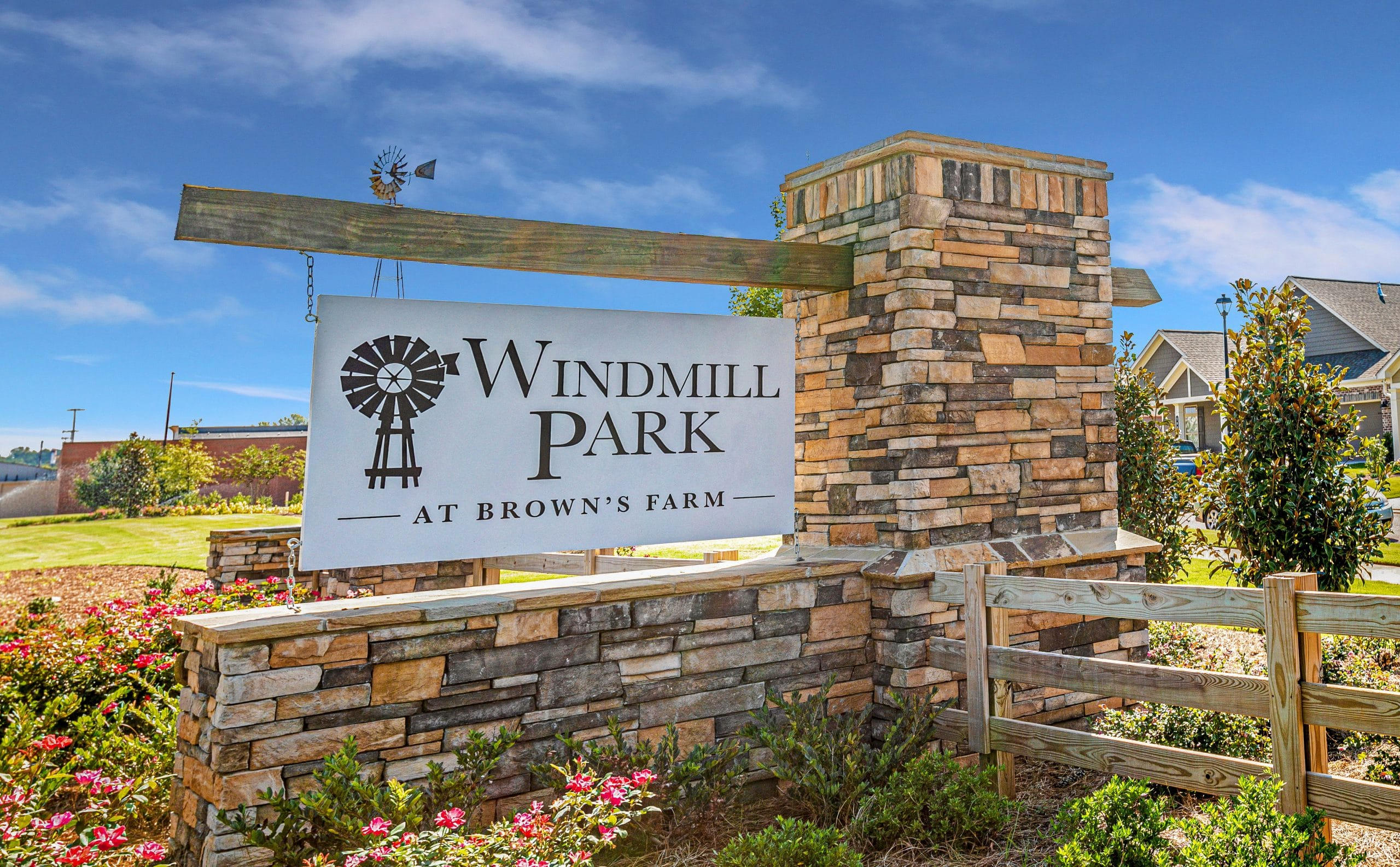 Windmill Park at Brown's Farm Entrance Sign