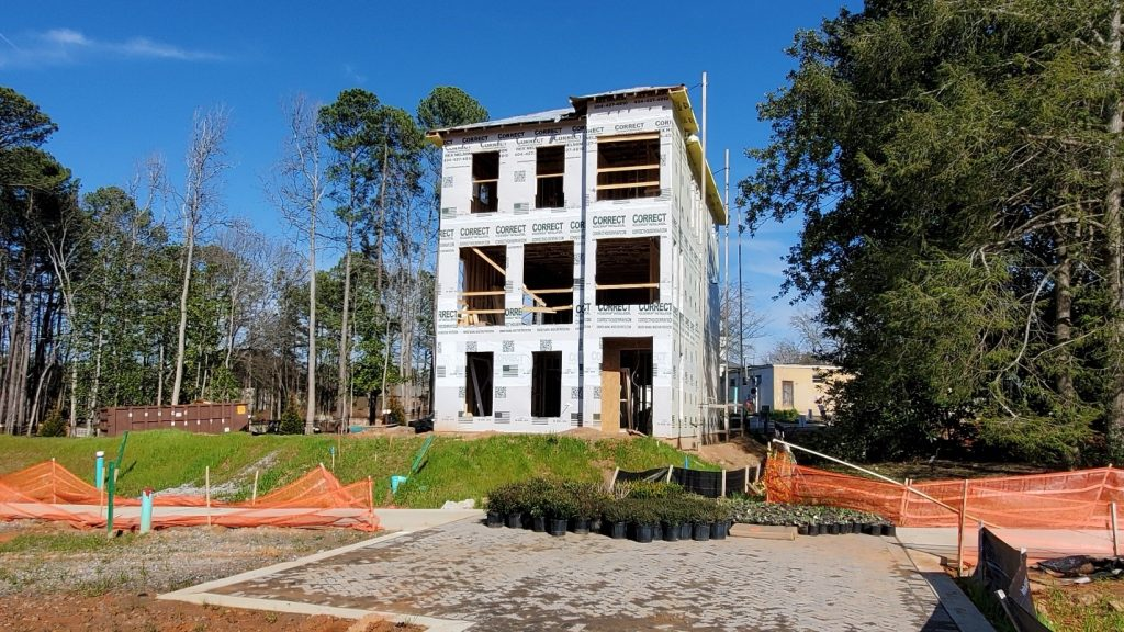 Model Home progress at Lot 1 in Villa Magnolia